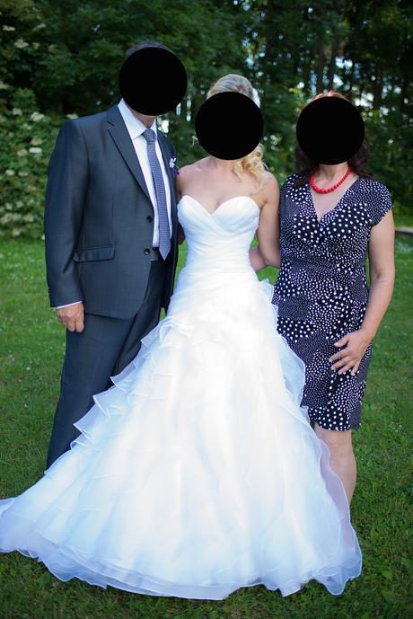 Bílé svatební šaty vel. S/XS, 36