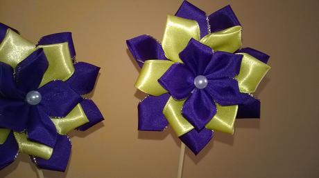 kytičky na zapichnuti fialovo žluté,