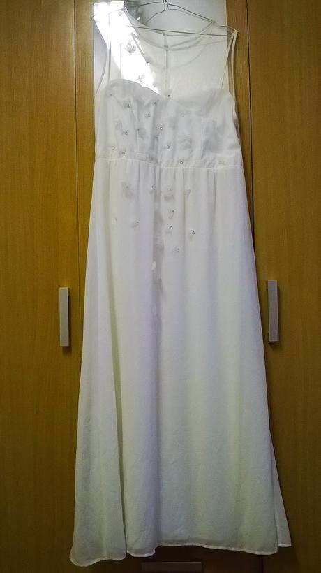 šaty pulnoční vhodné i jako svatební, 44