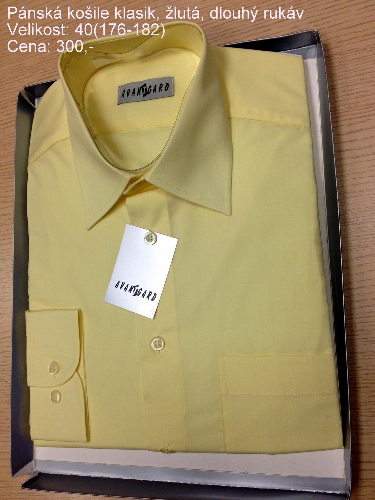 Pánská košile vel. 40( klasik žlutá) a22f4a7d9b