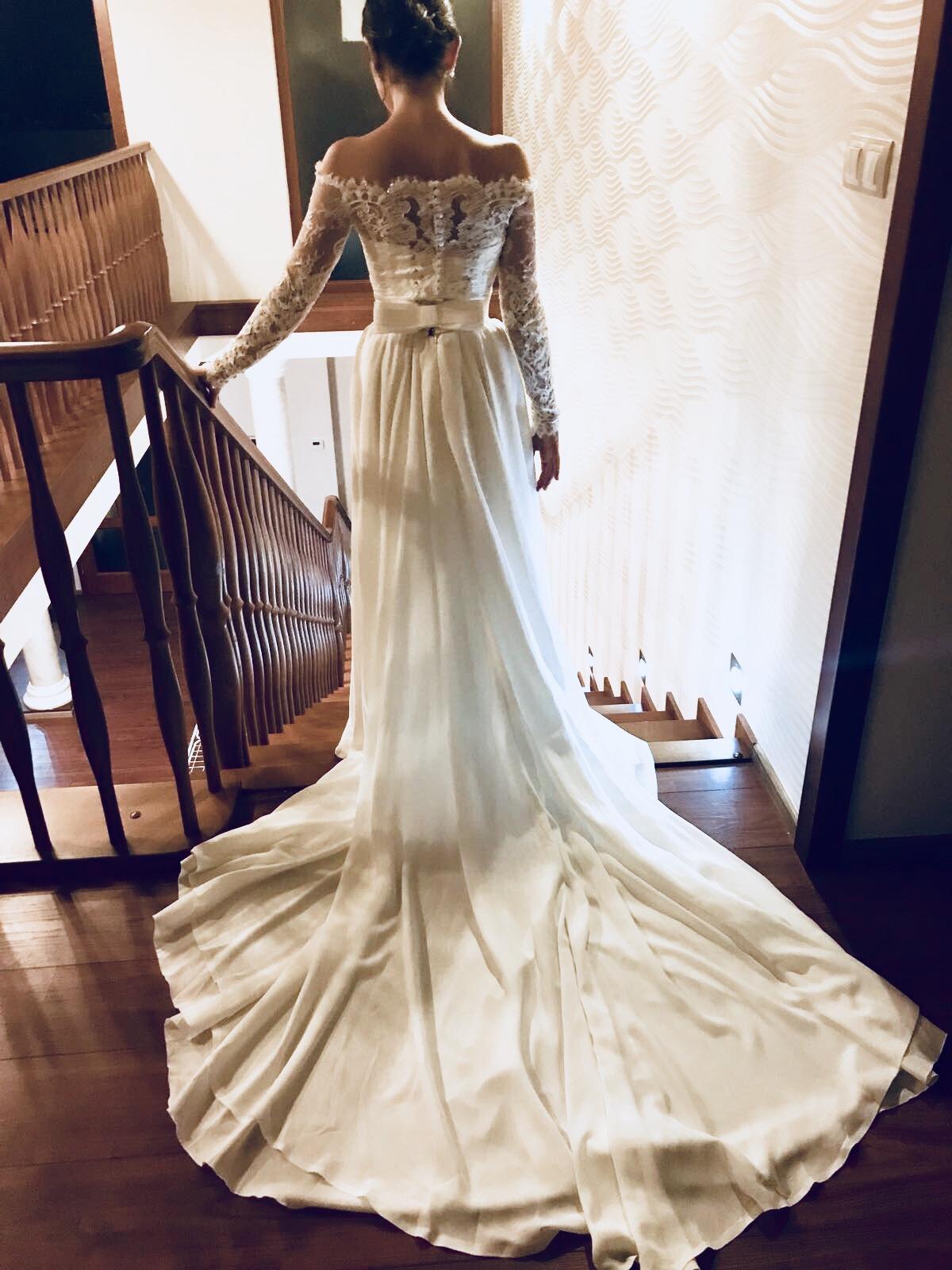 dcda9447396d Romantické čipkované svadobné šaty