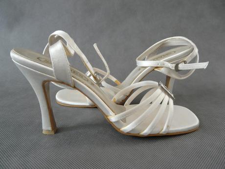 Saténové boty svatební, 40