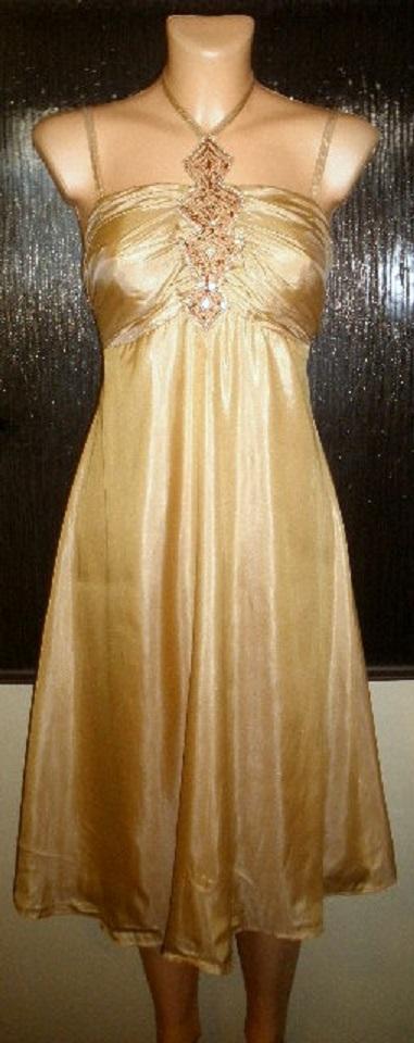 zlatavé společenské šaty 42, 42