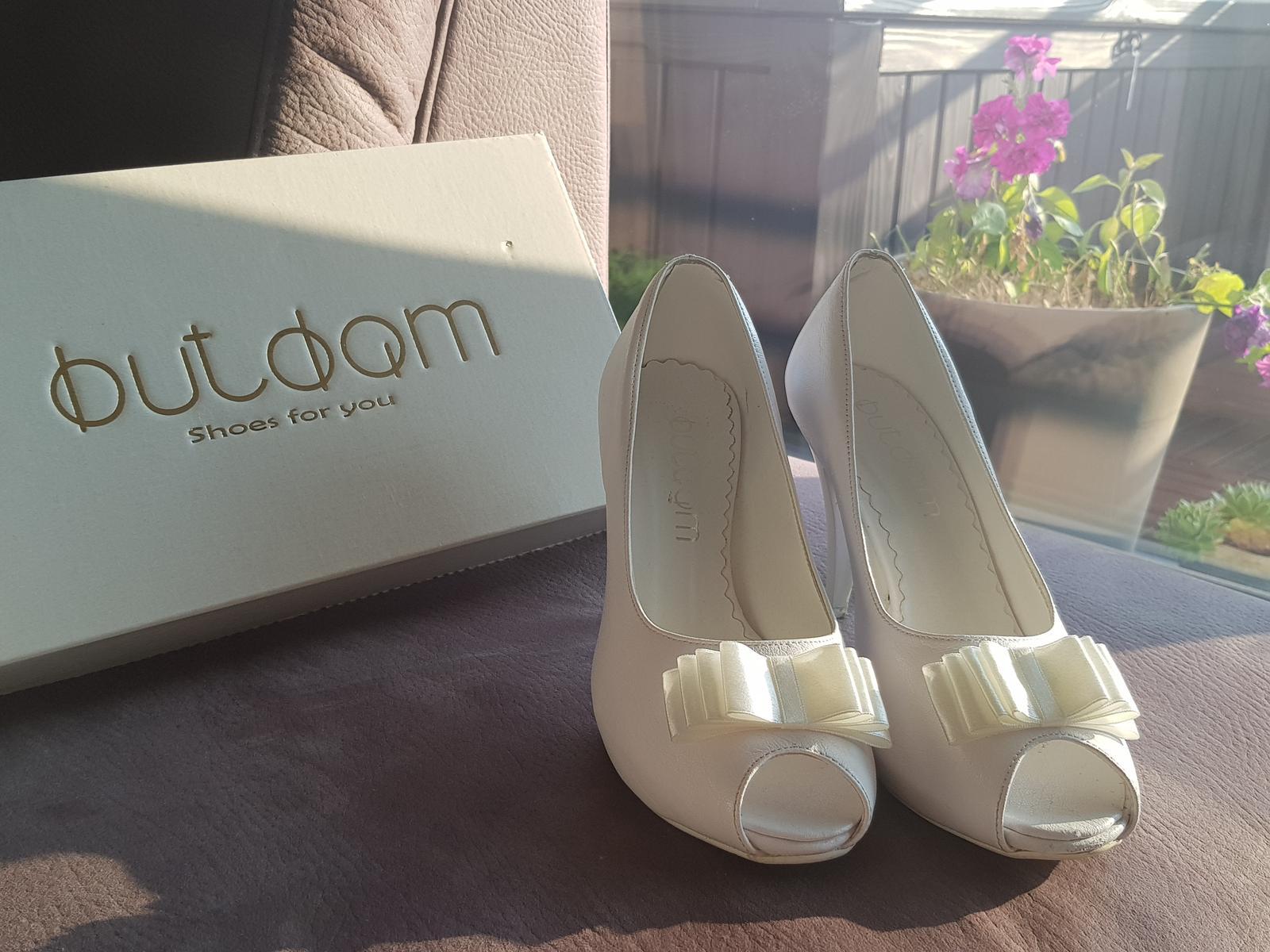 459339f919 Svadobné topánky s otvorenou špičkou