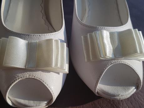 Svadobné topánky s otvorenou špičkou, 36