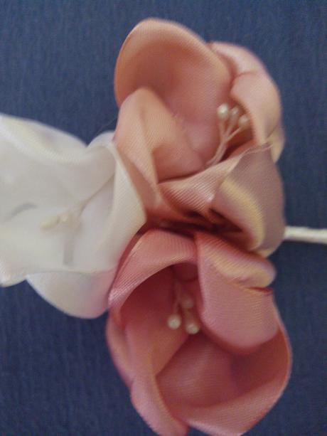Textilne tulipany - ozdoba/pierko/darcek,