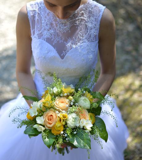 Svadobné šaty čipka a tyl (34-36), 36