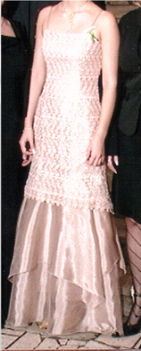 Zlaté spoločenské šaty - dlhé, 36
