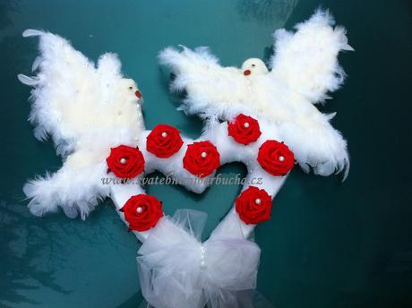 Srdce s holubičkama ,