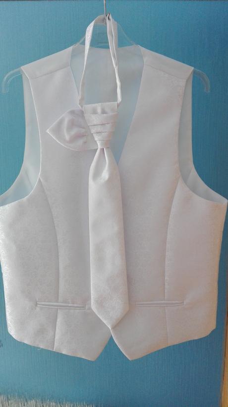 Svadobna vesta pre ženícha + kravata,kapesnik, 50