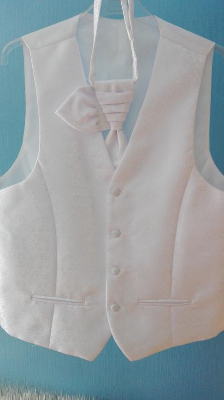 Svadobna vesta pre ženícha + kravata,kapesnik, 52