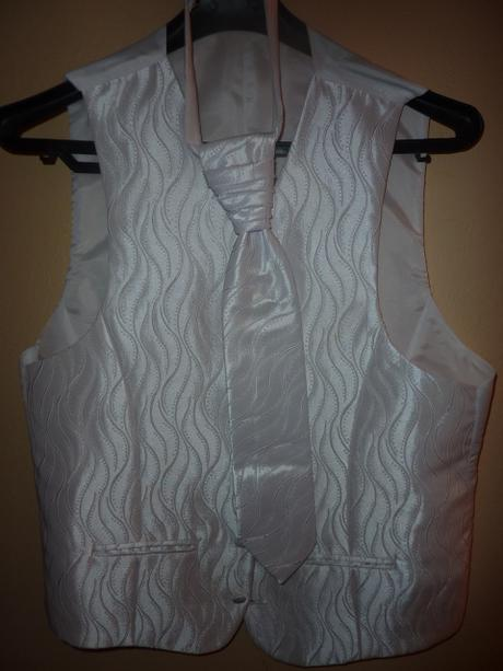 Svadobný oblek+vesta+kravata, 52