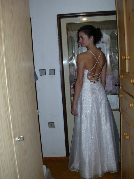 Svatebni šaty (maturitni-plesove) tehotenske 36-38, 38