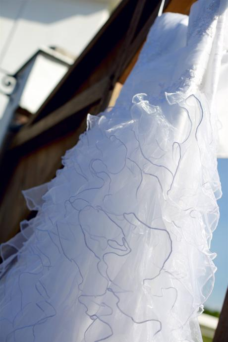 Svatební šaty s volánkovou sukní(těhotenské) 40-44, 42