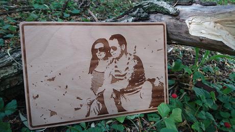 Dřevěná fotografie A4 - stačí nahrát fotku,