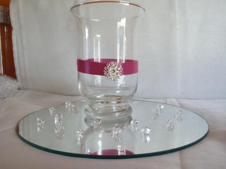 sklenena vaza - svietnik,