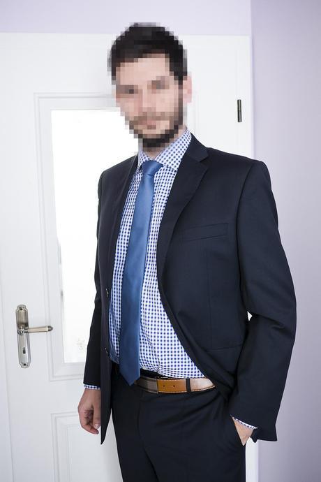 Vlnený oblek Blažek, 52