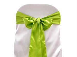 Saténové mašle - zelené - prodej,