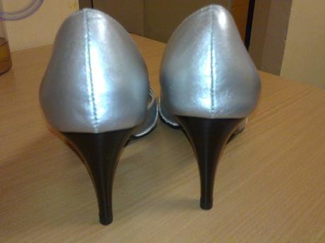 Strieborné spoločenské topánočky, 35