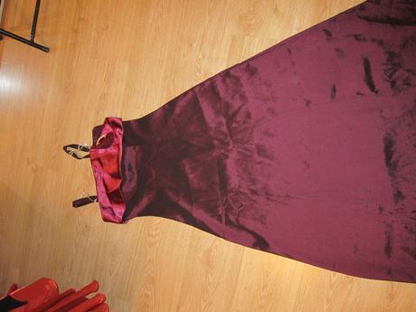 Spoločenské šaty bordové, 38