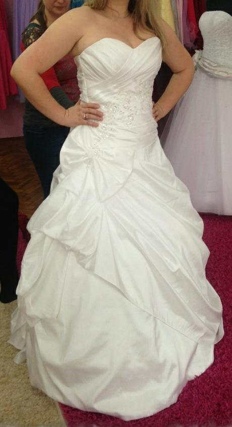 Svadobne šaty  snehovo biele,spodnička, 42