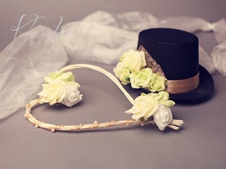 Sada na auto ženicha a nevěsty,