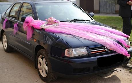Šerpa na auto nevěsty ,