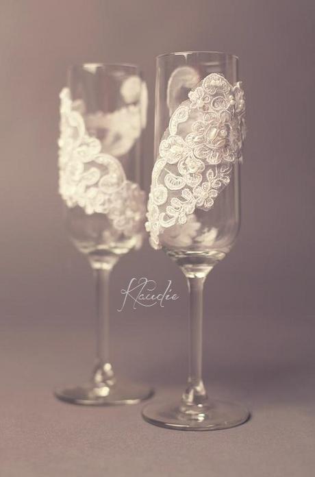 skleničky pro nevěstu a ženicha,