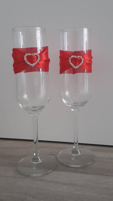 svatební skleničky pro nevěstu a ženicha - Novinka,