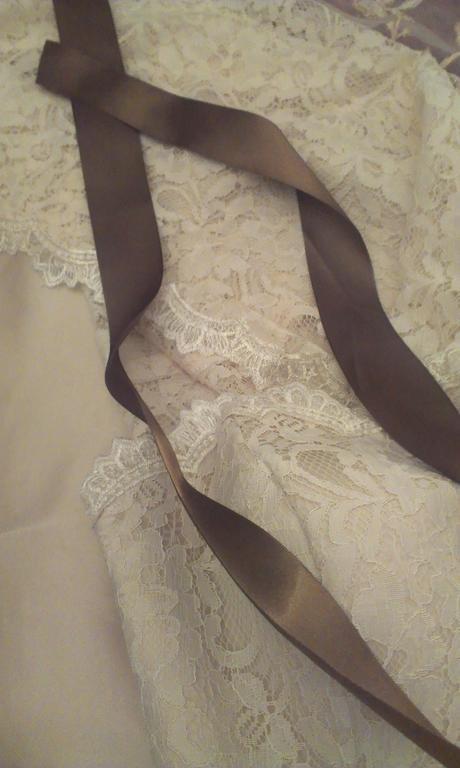 Čipkované šaty  Vintage - veľkosť 38 - 40 KE ZV, 38