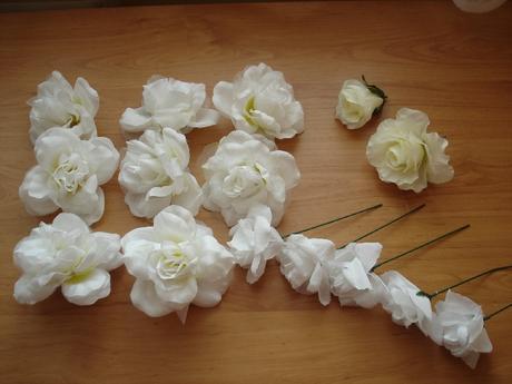 Samostatné ružičky,