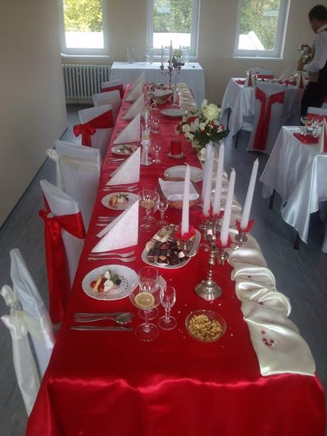 Svadobná výzdoba za 2,50 eur/osoba,