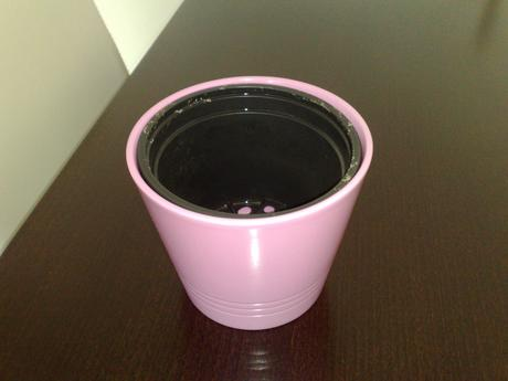rúžový kvetináč,