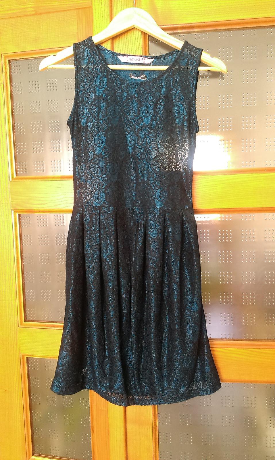 Luxusní černomodré šaty smash 990bb47329