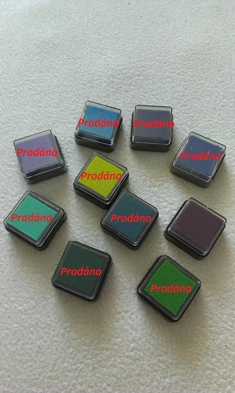 Razítkovací polštářek - fialová barva,
