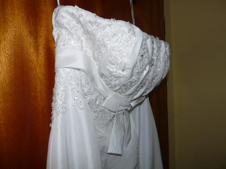 elegantní svatební šaty + BOLERKO, 42