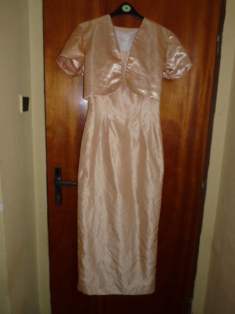zlatavé - žluté šaty pro maminku + bolerko, 36