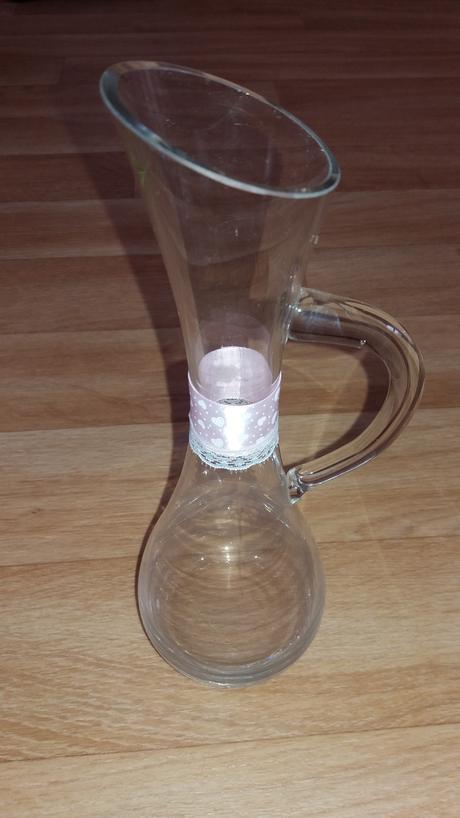 Skleněná vaza,
