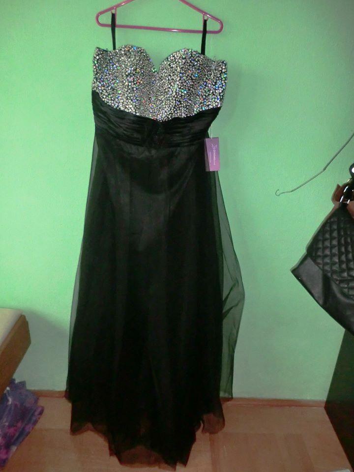 6f2a0105212d Čierno-strieborné spoločenské šaty