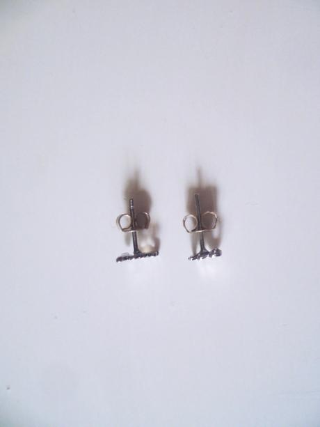 Náušnice YES NO stříbro Ag 925,