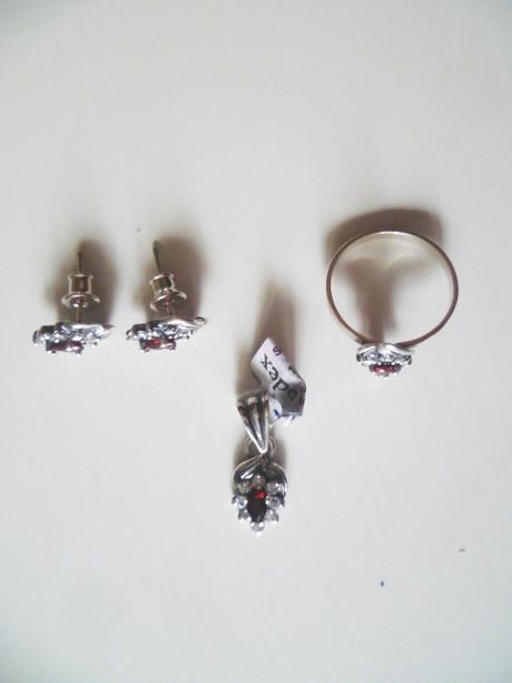 Set náušnice přívěsek prsten stříbro Ag 925,