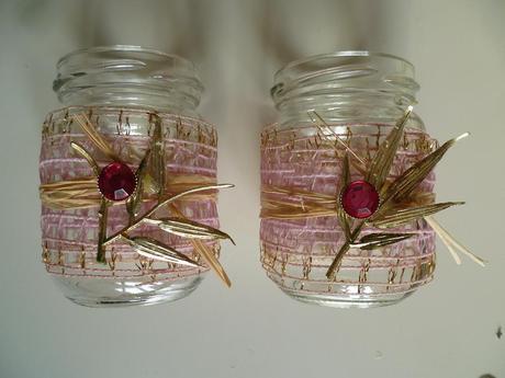 Skleněné svícny na svíčky růžová zlatá cena za kus,