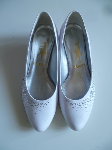 Svatební boty lodičky na nízkém podpatku 36 37, 36