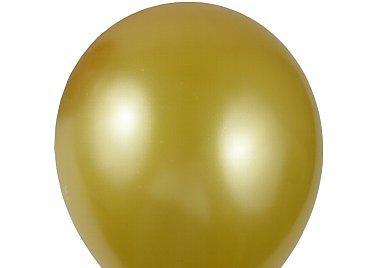 """Zlaté perleťové balónky kvalitní 12"""" 35 ks,"""