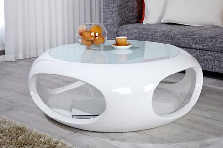 Konferenční stolek Ufo white,