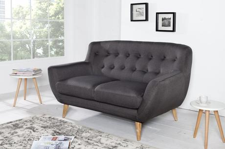 Sedačka 2 Sofa Retro Antracit,