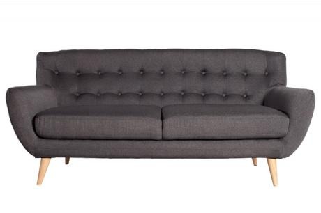 Sedačka 3 Sofa Retro Antracit,