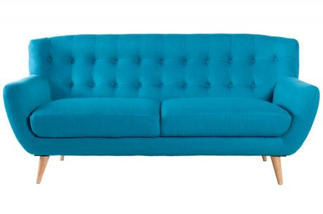 Sedačka 3 Sofa Retro Blue,