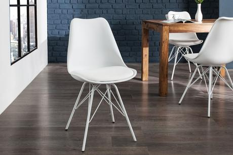 Židle Scener Chair Retro White,