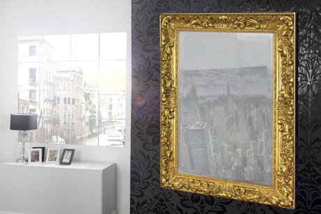 Zrcadlo Antik gold,